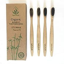 Cepillo de dientes de bambú natural con cerdas infundidas de carbón vegetal   b231084880dd