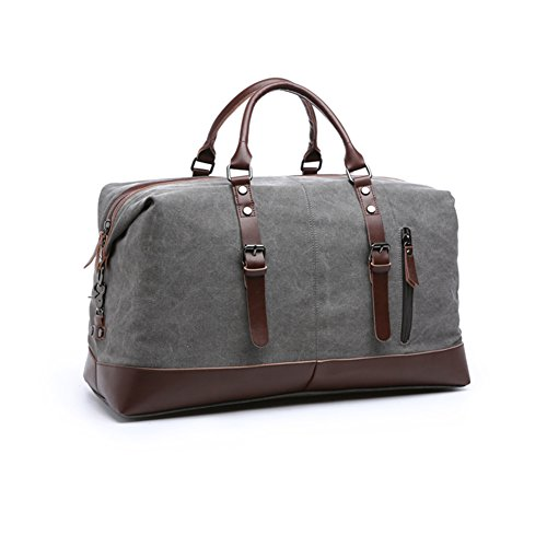 - 41eljB8qKWL - Aizbo® Canvas Travel Carry On Duffel Bags Holdall Overnight Weekend Satchel Totes Bag Handbags for Men and Women