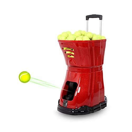 Geräuschfreie Tennisballmaschine | 100m Reichweite Der Fernbedienung | Verschiedene Servierarten, Rollbewegungen, Leichte Aufbewahrung Smart Tennistrainingsassistent