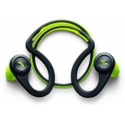 Plantronics BackBeat Fit - Auriculares In-ear inalámbricos (Bluetooth, 105 dB, 50 Hz - 20 kHz, a prueba de agua), color negro y verde