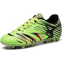 WOWEI Zapatos de Fútbol Aire Libre Profesionales Atletismo Training Botas de Fútbol Adolescentes Adultos Zapatos de