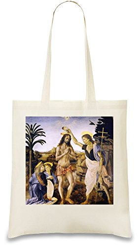The Baptism of Christ Leonardo da Vinci Painting sacchetto