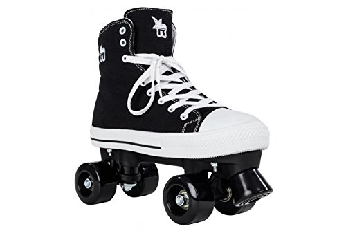 Rookie Canvas High Patines, Mujer, Black, 40,5