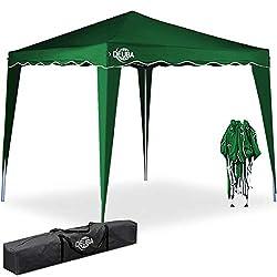 Deuba® Pavillon Capri 3x3m wasserdicht Pop-Up inkl. Tasche UV-Schutz 50+ Faltpavillon Gartenzelt Partyzelt Grün