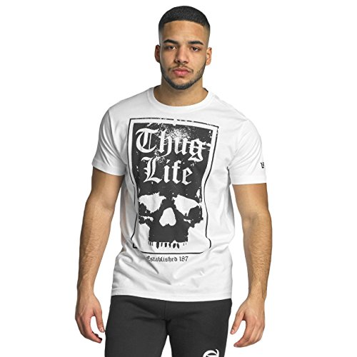 Thug Life Herren Oberteile / T-Shirt Established 187 Weiß