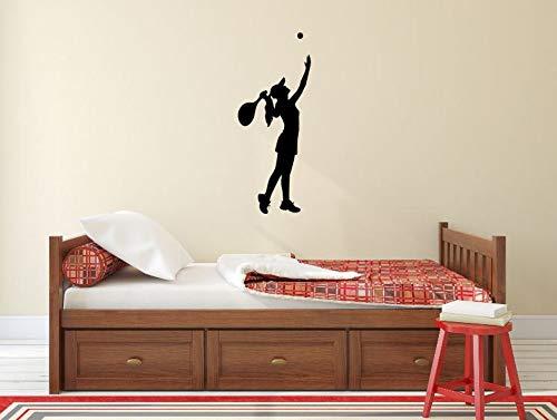 Wandaufkleber Tennis Sport Active Home Tür Fenster Aufkleber Mädchen Spielzimmer Dekor Vinyl Kunst Abnehmbare Dekoration 42x104 cm