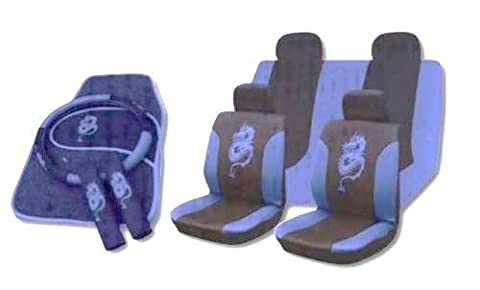 13pc Dragon Seatcover Set in Blue