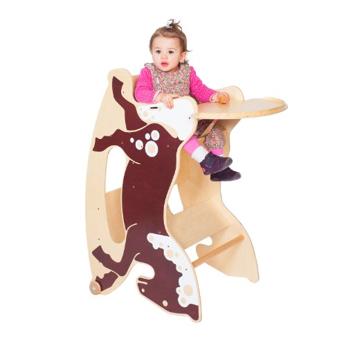 TRIHORSE® Baby 3in1 highchair RENE, a highchair, a rocking horse, and a small table and chair 41eln6ZdUpL