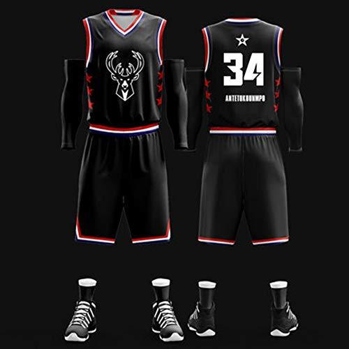 NBA Jersey All-Star-Basketball-Anzug Student Sport T-Shirt Trainingsanzug Sport Weste Stoff Stickerei - All-star-jersey