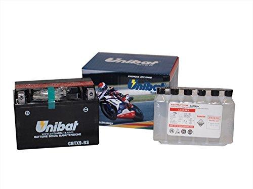 unibat batería de moto-12V-cbtx9-bs (YTX9-BS)