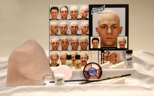Graftobian Complete Latex Bald Cap Kit with Instructions by Official Costumes