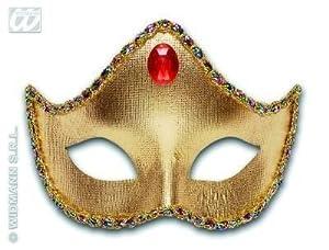 widmann-wdm6444p disfraz Adulto para mujer, Oro Plata Rojo Negro, wdm6444p