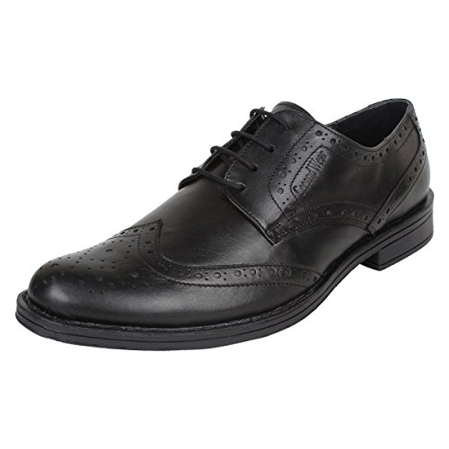 SeeandWear Brogue Shoes For Men. Branded Leather Black Lace Up Formal Shoes (8)