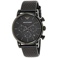 Empy6 Emporio Armani Men's Quartz Watch, Analog Display and Leather Strap Ar1737