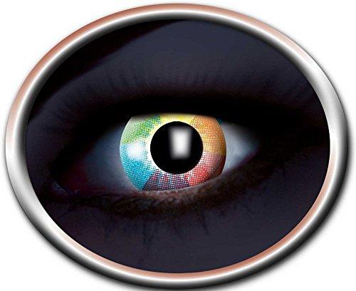 insen - rainbow diamond 466 - farbige 12-Monats-Kontaktlinsen (Sandwich Kostüme Erwachsene)