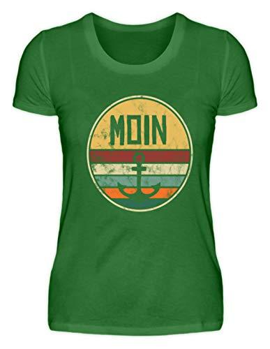 Moin Anker Retro Vintage Edition   Plattdeutsch Norden Hafen Maritim 60er 70er 80er Jahre - Damen Organic Shirt -L-Kelly Green - 70er-jahre-kelly-grün