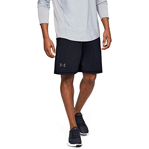 "Under Armour Herren Raid Shorts 25,4 cm, Herren, Men's Raid 10"" Shorts, Black (001)/Graphite, Large"