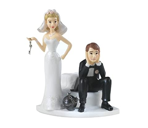 Wedding Cake Topper résine 4 « X3.25 »-Ball & Chain
