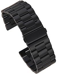 24 Mm Reloj De Acero Inoxidable De Reemplazo Para La Banda De 42 Mm De Manzana Negro Reloj