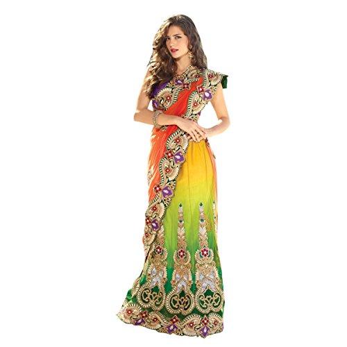 Aagaman-Fashion-Faux-Georgette-Net-Sarees-TSPL2208Multi