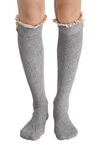 Avidlove Damen Kniestrümpfe Baumwolle Beinling Hohe Socken in Verschiedenen Farben