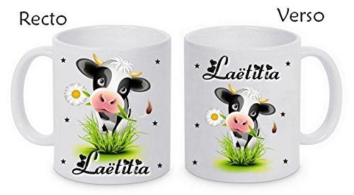 Mug céramique vache personnalisé avec prénom