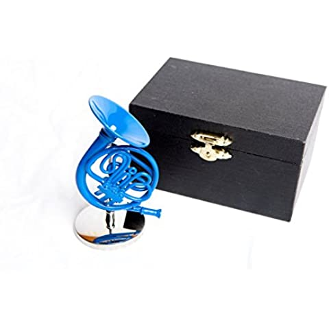 Blue French Horn Ornament with Stand inspired by How I Met Your Mother