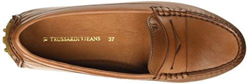 Trussardi Jeans Damen 79s11549 Mokassin Braun (66 Cuoio)