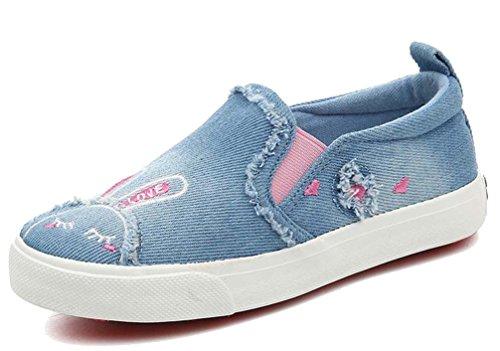 Halloween Niedliche Kinder Für Angebote (HiTime Mädchen Niedlich Karikatur Stickerei Sneaker Freizeit Schuhe Kleid Turnschuhe ( 29 , Blau)