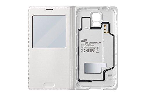 Samsung EP-VG900BWEGWW S View Case mit kabellose induktive Aufladen für Samsung Galaxy S5 weiß