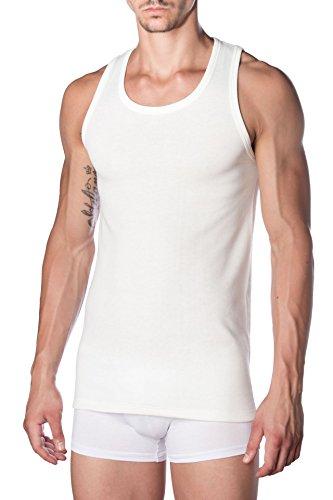 Marcluis - canotta spalla larga in mistolana, particolarmente indicato per stagioni invernali, confezione da 3 pezzi, bianco, 6°/xl/48