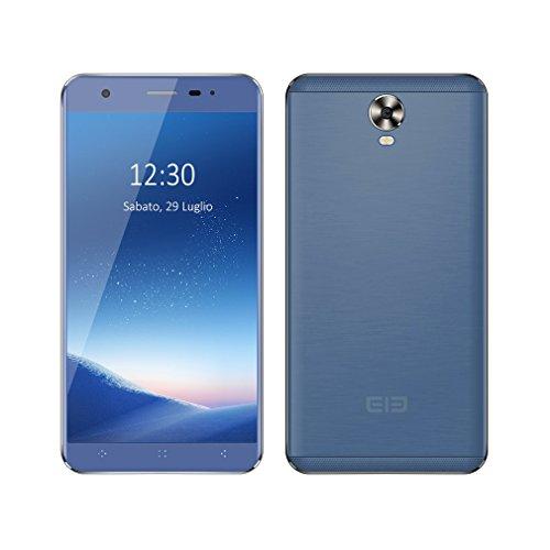 ELEPHONE Smartphone 5 Pollici 3G Android 6.0 Quad-core 1.3GHz Dual Sim, Multitouch G-sensor, Leggero Sottile Buon Regalo (A1, Blu)