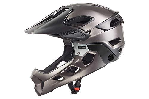 Uvex - Casco da bici Jakkyl Hde, Unisex, Fahrradhelm Jakkyl Hde, Black-Dark Silver Mat, 56-61