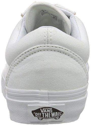 Vans Old Skool Scarpe Da Ginnastica Basse, Unisex Adulto Bianco (True White)