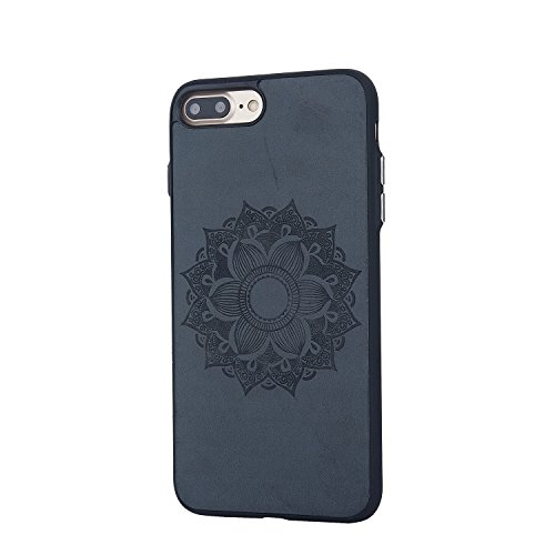 EKINHUI Case Cover Retro Sonnenblume-Prägemuster-Haut-rückseitige Abdeckung Schlanker, schockabsorbierender stilvoller schützender Stoßkasten für IPhone 7 Plus ( Color : Rose Gold ) Brown