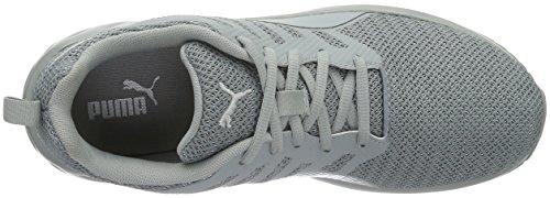 Puma Flare Metal, Chaussures de Running Compétition Homme Gris - Grau (quarry-puma White 01)