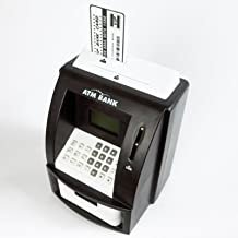 Mini Bank ATM Savings Machine - Accepts Notes - Mini Bank Card & Pin - Built In Alarm Clock - by Maxim