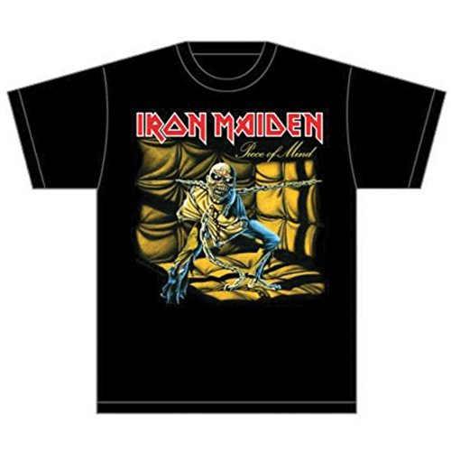 Collectors Mine Herren T-Shirt Iron Maiden-Piece of Mind, Gr. 48 (M), Schwarz (Schwarz) (Iron Maiden Herren)