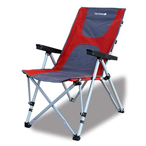 MSNDIAN Chaise Pliante réglable à l'arrière en Plein air, Chaise de Plage Portable, Chaise de pêche en Camping, Chaise de Directeur Chaise Pliante Simple