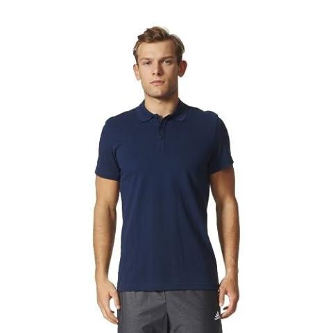 adidas ESS Base Polo Short Sleeve Tennis Polo for Man, Blue (Maruni), M