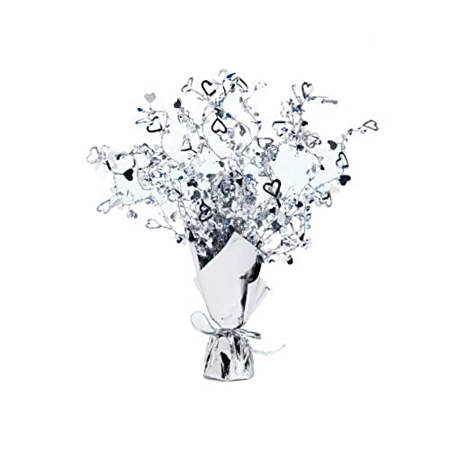 Wedding party decorations amazon table centrepiece silver heart decorations and accessories for celebration or valentines etc junglespirit Choice Image