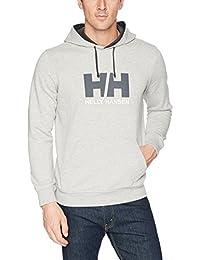 Helly Hansen HH Logo Hoodie Sudadera con Capucha, Hombre, (Gris 949), Medium (Tamaño del Fabricante:M)
