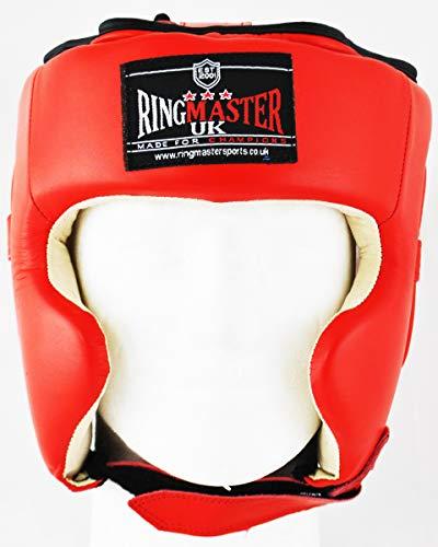 ringmasteruk Cajas de protección piel rojo/blanco, hombre mujer, Rojo y blanco