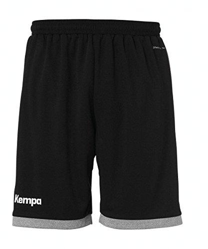 Kempa Herren Core 2.0 Shorts, Schwarz/Dark Grau Melange, M