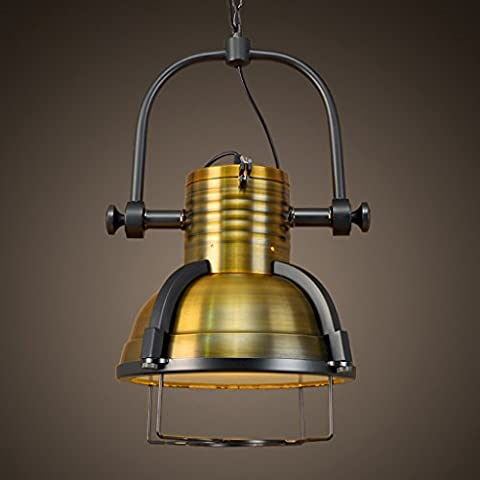 Pendant Ceiling Light Steampunk Lamp, Retro Industrial Wind Creative Personality Restaurant Aisle Bar Chandelier Chandelier, Copper Finish (Diameter 15.4 In)