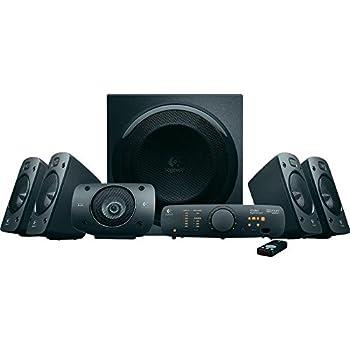 Logitech Speaker System Z906 Système de haut-parleurs 5.1 Télécommande sans-fil  Satellites  Son surround stéréo 3D Subwoofer 500 watts Noir