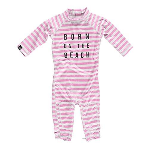 Beach & Bandits Baby Beach Girl Uv-Schwimmanzug, Weiß/Rosa, 80-86 cm