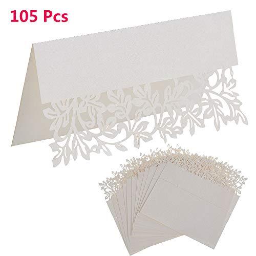 105 piezas Tarjetas blancas lugar asiento Tarjetas