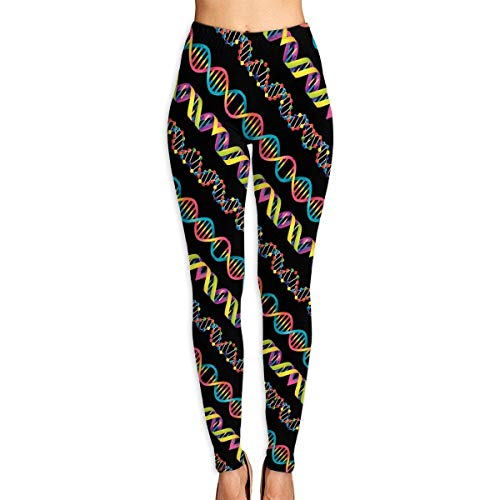 VAICR NCRSPIC Strumpfhosen Hosen,Personalized Colorful DNA Science Women's Printed Leggings Pants For Sports Yoga Workout Gym Running