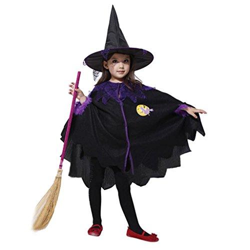 Hee Grand Kostuem Hexe Witch fuer Maedchen Halloween Hexenkostuem mit Hut ohne Besen chinesisch M